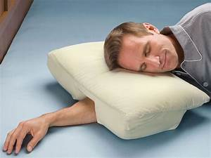 Arm sleeper39s pillow the green head for Best pillow for me