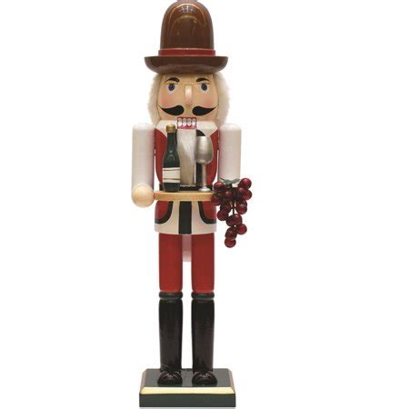 decorative wooden winemaker christmas nutcracker