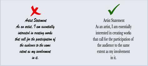 write  artist statement tips   art