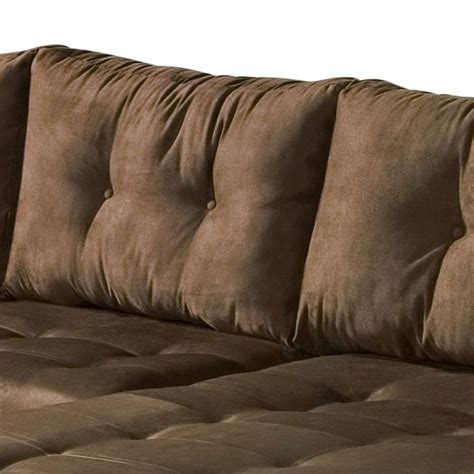 sofá 3 lugares suede chaise sof 225 3 lugares dijon chaise suede marrom