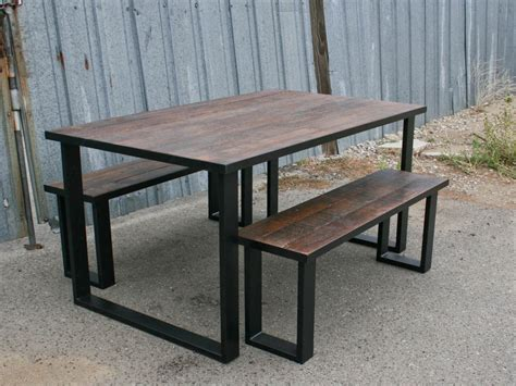 industrial reclaimed wood dining tables combine