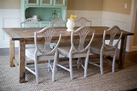 farmhouse table  pocket holes plan ana white