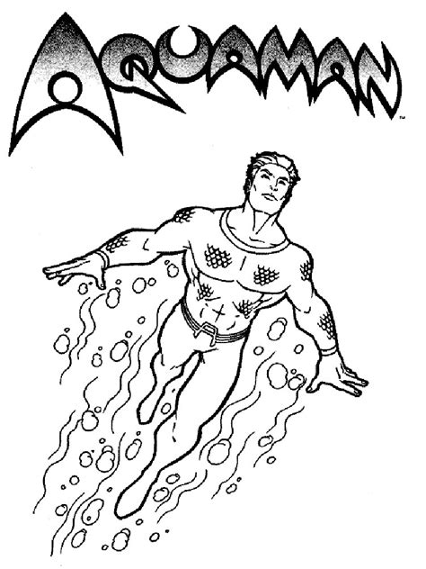 aquaman coloring pages   print aquaman