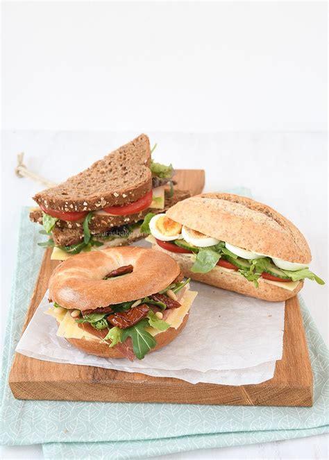 3x belegde broodjes voor de lunch laura s bakery