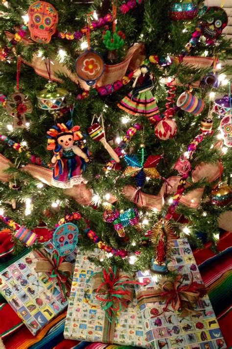 mexican christmas decorations ideas my 2014 mexican tree loter 237 a jute and raffia gift wrap my hobby