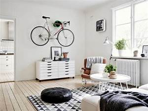 salon scandinave 38 idees inspirations diaporama With tapis peau de vache avec canape scandinave black friday