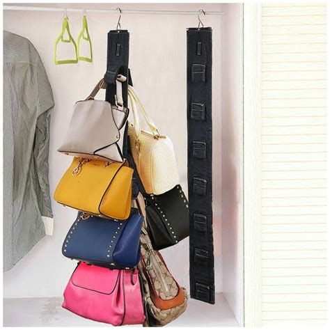 Hanging Purses In Closet by Travelmall Hanging Purse Rack Handbag Closet Organizer