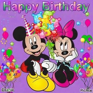 Happy Birthday Mickey Mouse : mickey and minnie mouse happy birthday pinterest happy birthday birthday and happy ~ Buech-reservation.com Haus und Dekorationen