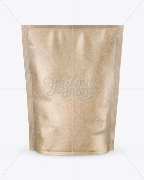 Don't forget to share with your friends! Kraft Paper Stand-up Pouch Mockup - Front View in Pouch ...