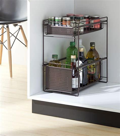 pvc kitchen cabinets 楽天市場 style free スタイルフリー シンク下スライドラック ワイド 2段 ho1693アネスティー 1693