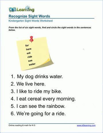 preschool kindergarten vocabulary worksheets