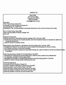 Student Cv Template Science First Year Student Sample Resume Free Download