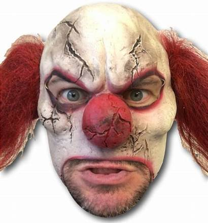 Mask Clown Scary Horror Transparent Cracked Pngio