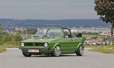 golf 1 cabrio tuning green volkswagen mk1 cabrio vw golf tuning