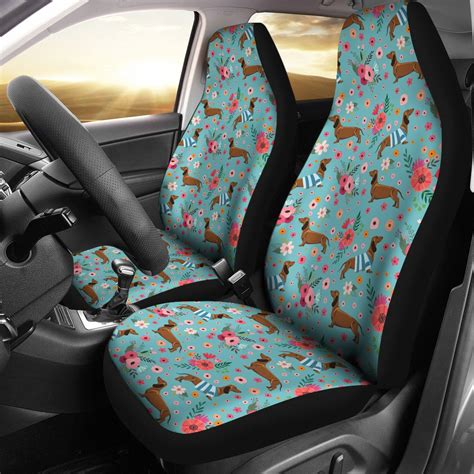 dachshund flower car seat covers groove bags
