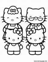 Coloring Kitty Pages Hello Printable Preschool Friends Clipart Prints Popular sketch template