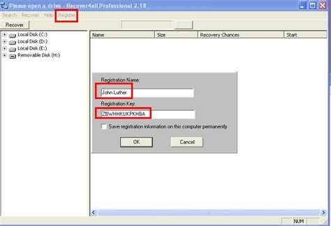 recover4all professional 2 18 serial with serial key register free free