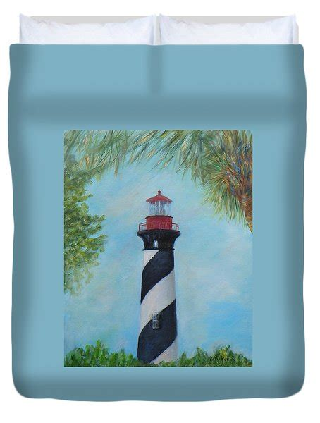 the lighthouse in st augustine florida painting by patty