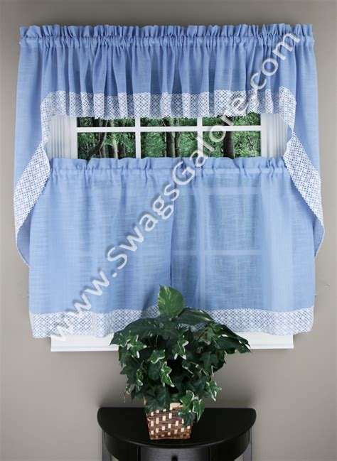 Blue Country Kitchen Curtains by Salem Kitchen Curtains Blue Lorraine Country Kitchen