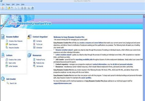Easy Resume Creator Pro by T 233 L 233 Charger Easy Resume Creator Pro Pour Windows Shareware
