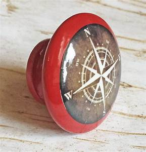 Nautical Compass Knob Drawer Pulls, from