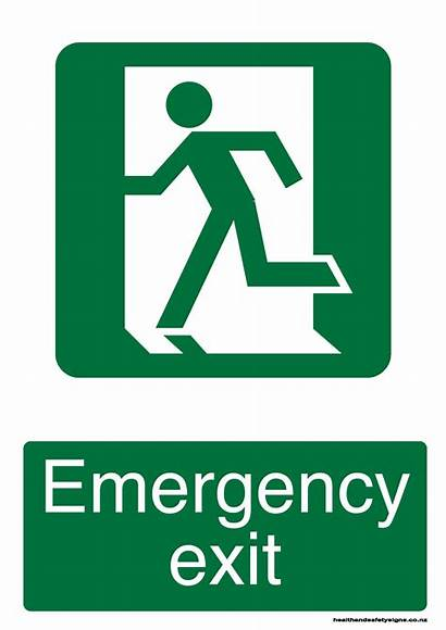 Exit Way Emergency Signs Nz Acm Left