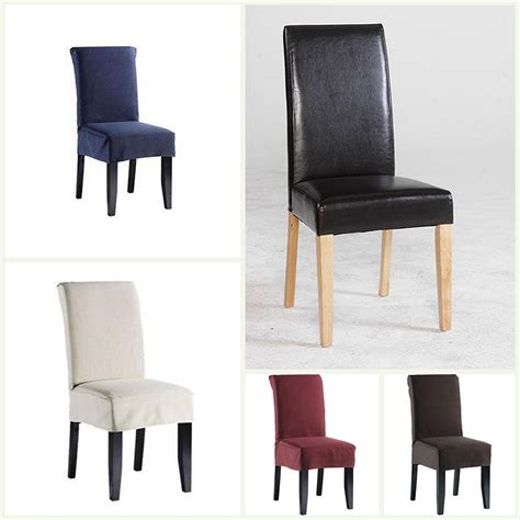 short dining chair covers polyester  colours dining room