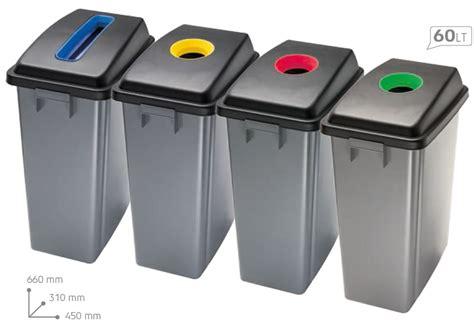 poubelle de bureau corbeilles pour tri sélectif 60 litres