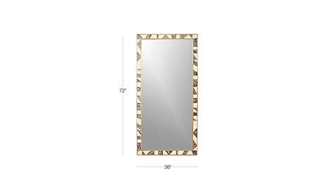floor mirror 36 x 72 grace bone inlay mirror 36 quot x72 quot cb2