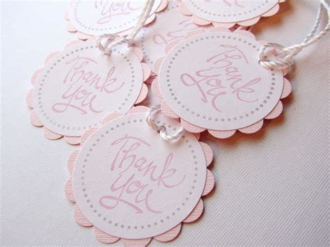 baby shower favor tags thank you tags pink of 12