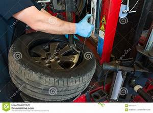 Car Tire Changing Stock Photo