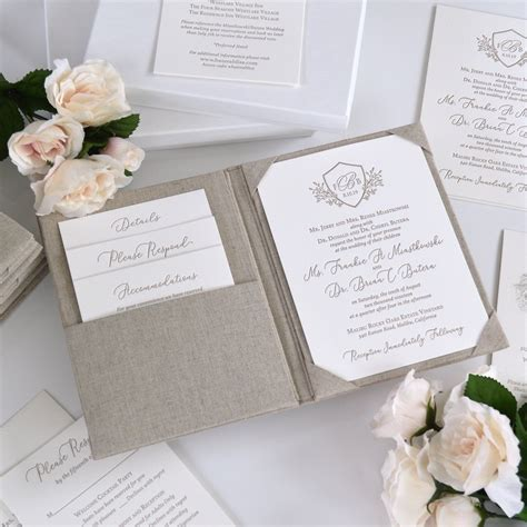 FRANKIE Letter Pressed Wedding Invitation with