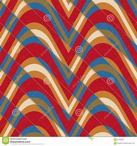Retro 3D Bulging Red And Blue Waves Diagonally Cut Stock ...