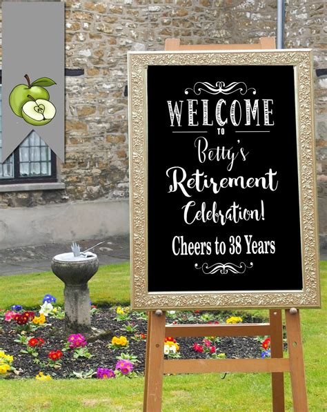 Find fantastic ideas of themes, decorations, invites and more to make your celebration truly memorable. Party sign retirement party sign Personalised party sign | Etsy in 2020 | Retirement party sign ...