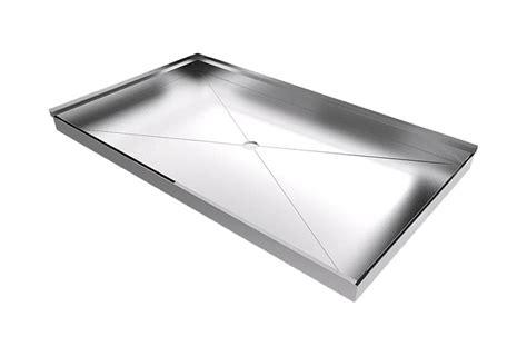 piatto doccia inox sistema integrato bagno doccia su misura senza
