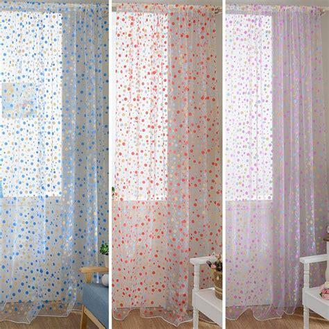 white polka dot sheer curtains 100cm x 200cm curtain polka dots drape panel sheer scarf