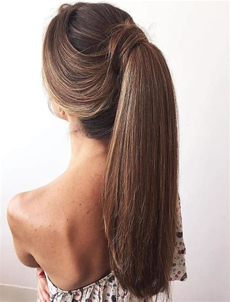 attractive ponytail hairstyles  women