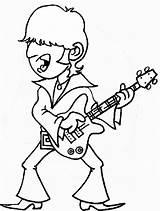 Coloring Rock Guitar Singing Roll Player Rockstar Printable Birthday Guitarist Sheets Rocks Colors Kid sketch template
