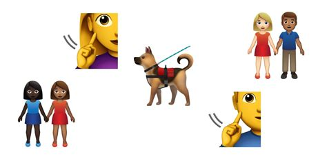 Service Dog, Deaf Person, Couples Added To 2019 Emoji List