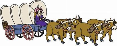 Clipart Pioneer Wagon Pioneers Clip Western Covered