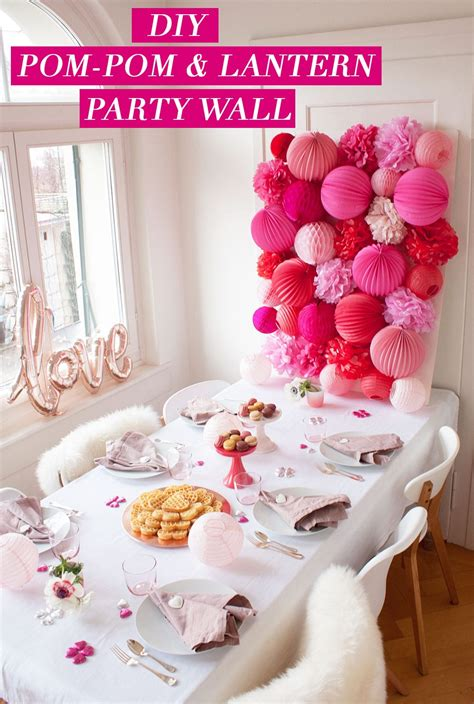 Diy Pink And Red Valentines Party Wall Pizzazzerie