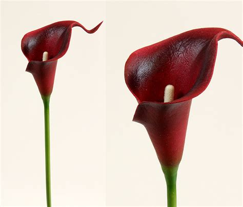 calla latex cm bordeaux ft kunstblumen seidenblumen ebay