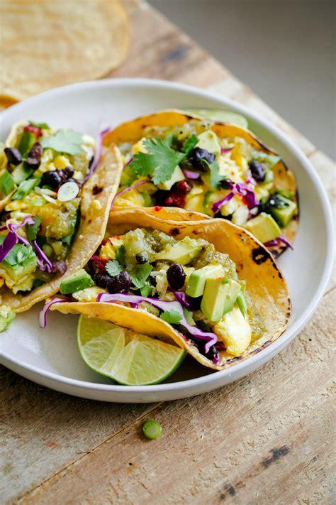 Beautiful Breakfast Recipes by Vegetarian Breakfast Tacos A Beautiful Plate