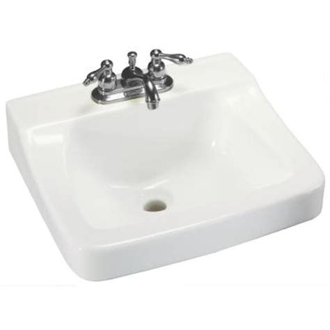 home depot wall mount sink glacier bay aragon wall mounted bathroom sink in white 13
