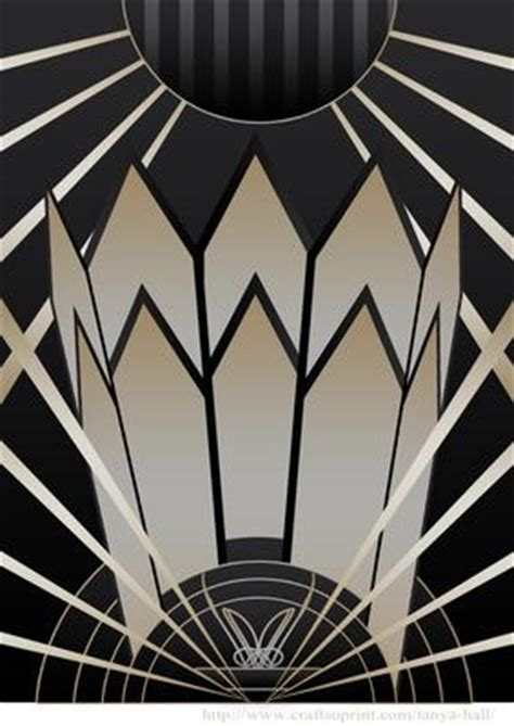 art deco style background cup craftsuprint
