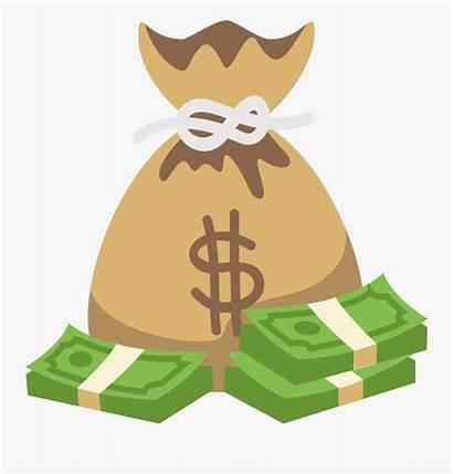 Money Bag Cartoon Clipart Clip Transparent Bags