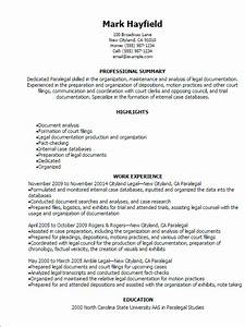1 paralegal resume templates try them now myperfectresume With free paralegal resume templates