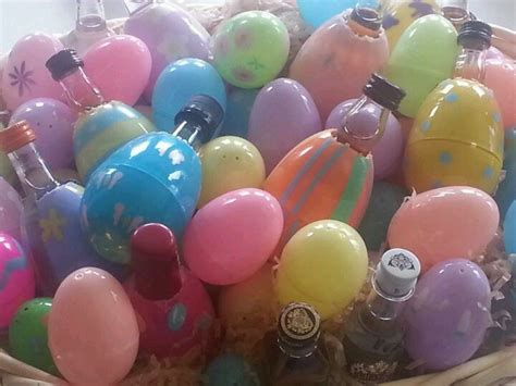adult easter egg hunt mini liquor bottles  plastic