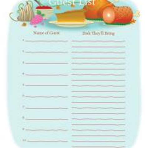 Printable Thanksgiving Potluck Sign Up Sheets Happy