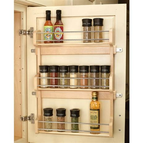 Spice Rack Holder by Wood Shelf Door Mount Cabinet Spice Holder Rack Storage